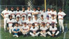 This is Haverford College's 1992 baseball team. It includes MLB executives JOsh Byrnes, Jon Fetterolf and Thad Levine.