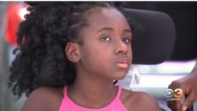 Jayzlyn Yaboah, injured in a car accident, opened a lemonade stand in Springfield to raise money for her medical costs.