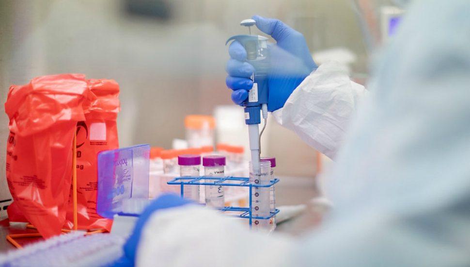 COVID-19 testing in a Pennsylvania lab.