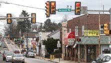 Garrett and Burmont roads in Drexel Hill