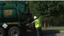 A tanker truck is helping with a gas spill cleanup in Brookhaven.