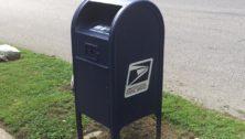 Street corner mailbox in Drexel Hill.