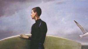 Randall Exon, Surfer and Bird (2007) oil on canvas.