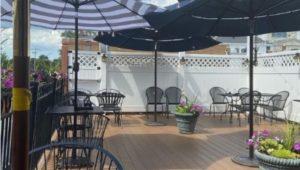 Azie's rooftop deck in Media.