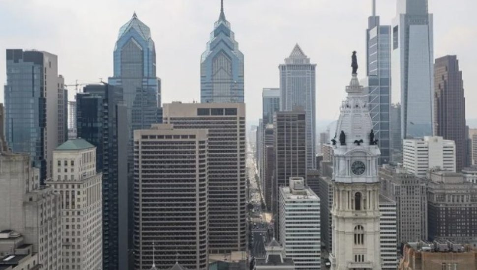 The Center City Skyline in Philadelphia.