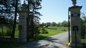 An entrance to the largely private Ardrossan Estate.