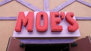 The Moe's sign at Simpson's Land, Universal Studios.