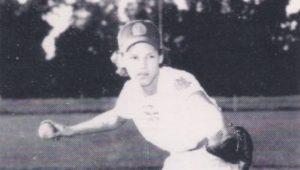 Gertrude Dunn during her professional baseball career.