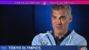 Jay Wright is interviewed by Keith Jones on NBC Philadelphia about a harrowing airplane flight.