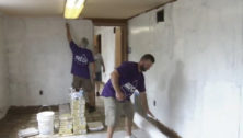 Volunteer employees from BHCU credit union get a warehouse in shape for Teachers Teammates.