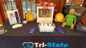Tri-State Transportation Training and Safety Consulting, which made the Inc. fastest growing company list, has a display table of their products and services.