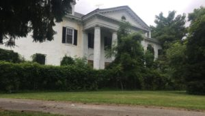 The historic Woodburne Mansion at Little Flower Manor Park in Darby Borough.