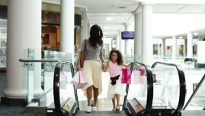 king of prussia mall mother and daughter walking