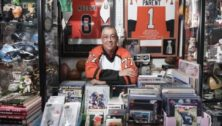 Carl Henderson has sports cards at his Havertown shop.