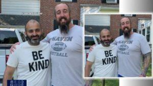 Amir Sidiqi with former teacher Kevin Haney.