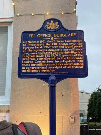 FBI Burglary Marker in Media, PA.