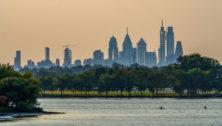 Philadelphia Skyline as seen from Cooper River Park.