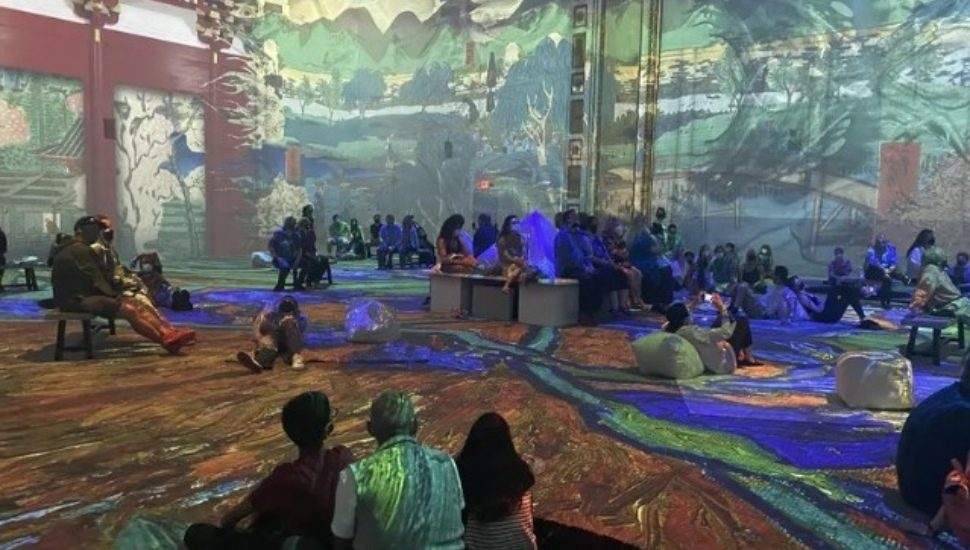 Japanese art makes an appearance at Van Gogh: The Immersive Experience.