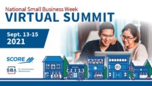 An advertisement for SCORE's virtual summit for small businesses.