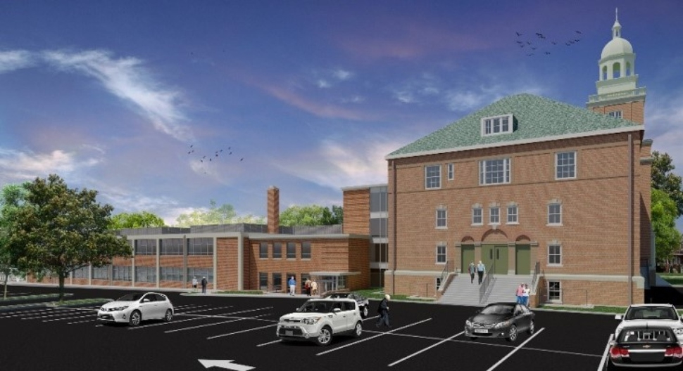 A rendering of St. Joseph Place under construction in Collingdale.