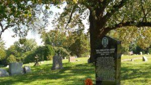 Octavius Catto's headstone in Eden Cemetery.