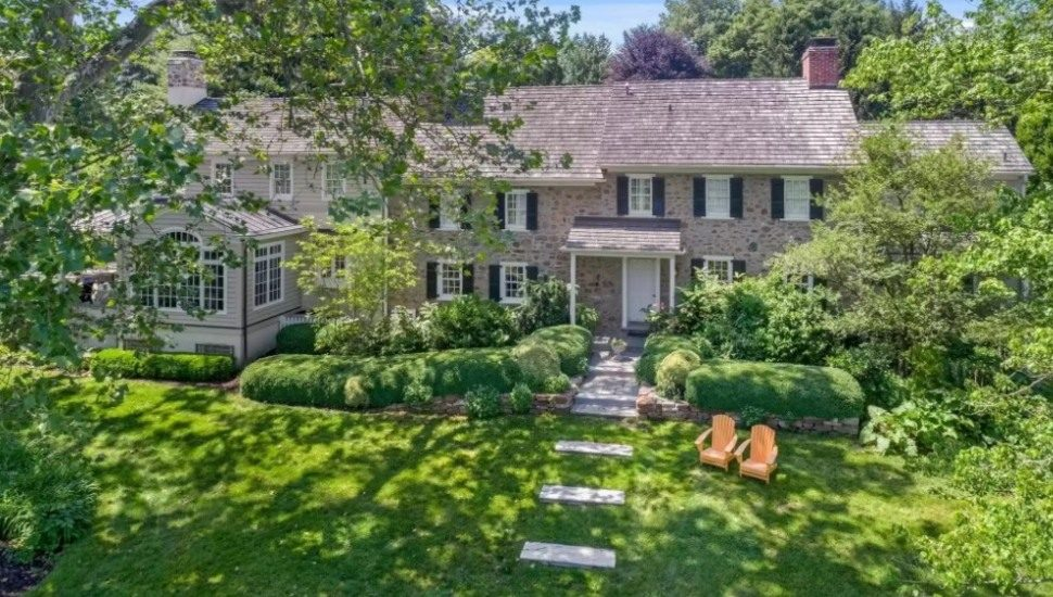 The exterior of a home for sale at 105 Brook Farm Road in Wayne.
