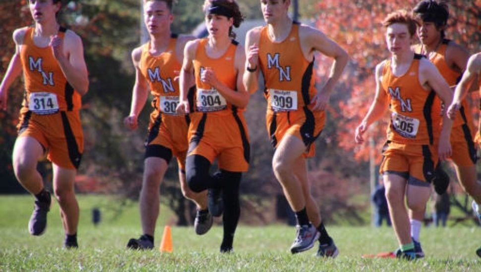Marple Newtown High School student athletes out for a run.