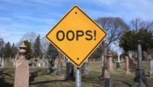 Opps! Sign in a graveyard