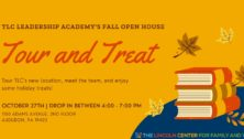 Tour and Treat advertisement for The Lincoln Center Open House Oct. 27