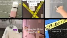 TikTok video samples highlighting 'devious lick' challenges