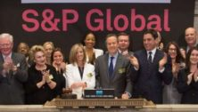 S&P Global featured at the New York Stock Exchange.